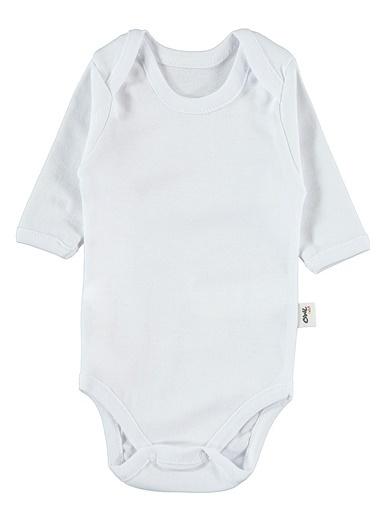 Civil Baby Bebek Çıtçıtlı Badi Beyaz Beyaz
